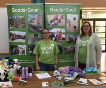 With Rosalind Bluestone at Goods for Good event