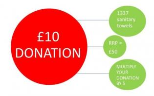 ten pound donation image