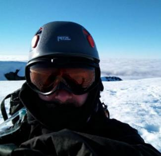 Selfie on assent of Mont Blanc