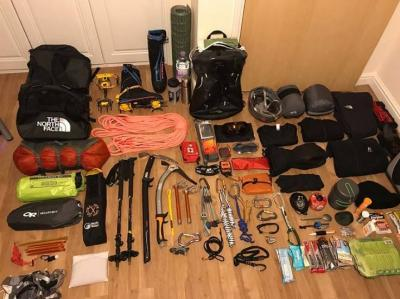 Expedition Equipment for Mont Blanc solo climb